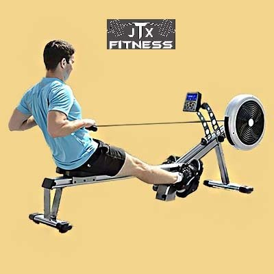 JTX Freedom Air Rowing Machine - Man workout