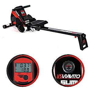 Viavito sumi rowing machine full size plus LCD monitor view