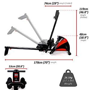 Viavito Sumi Folding Rowing Machine measurements