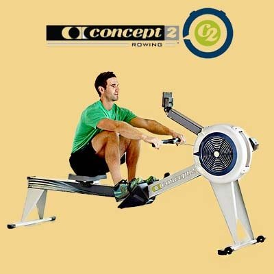 Concept2 Model E Rowing machine - Man working out