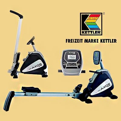 Kettler AXOS Rowing Machine full and folded view