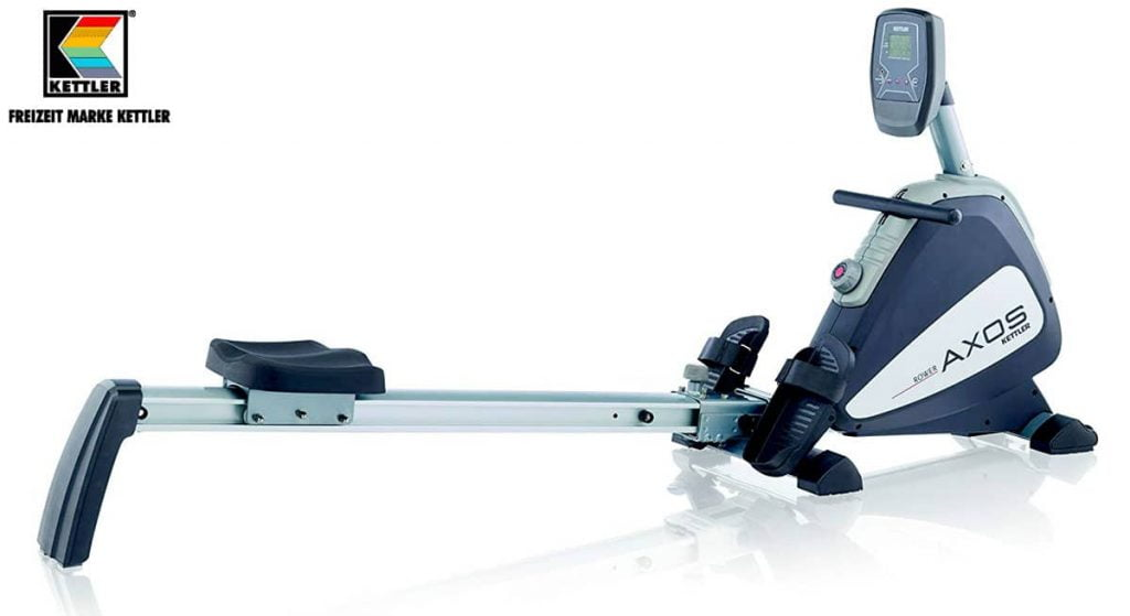 Full view of Kettler axos rowing machine