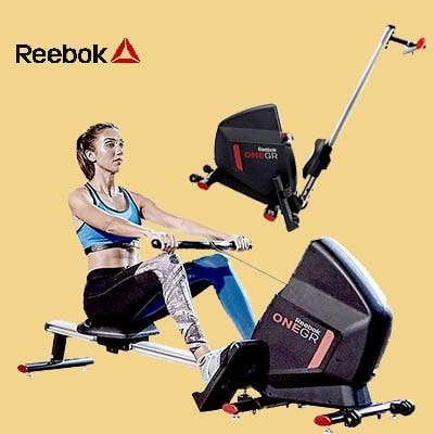 Reebok GR Rower - Woman workout + Folded view and Logo