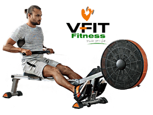 Working out with V-Fit Tornado Rower