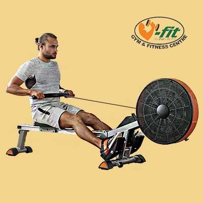 V-fit Tornado Air Rower - Man working out