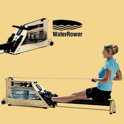 WaterRower A1 rowing machine - Woman workout + Water tank part & logo