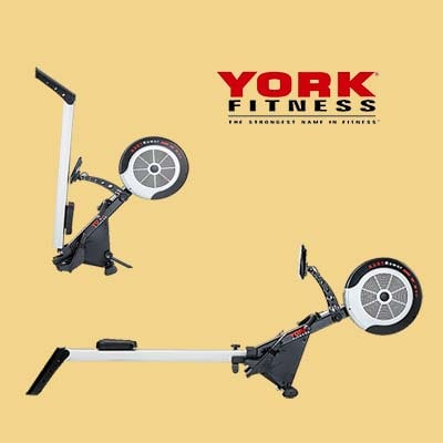 York fitness R301 rower Full view + Folded view & Logo
