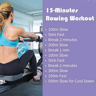 15 minutes Workout with Rowing Machine