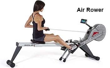 Air/Flywheel rowing machine - female workout (blog)